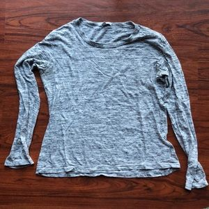 James Perse marled grey long sleeve tee